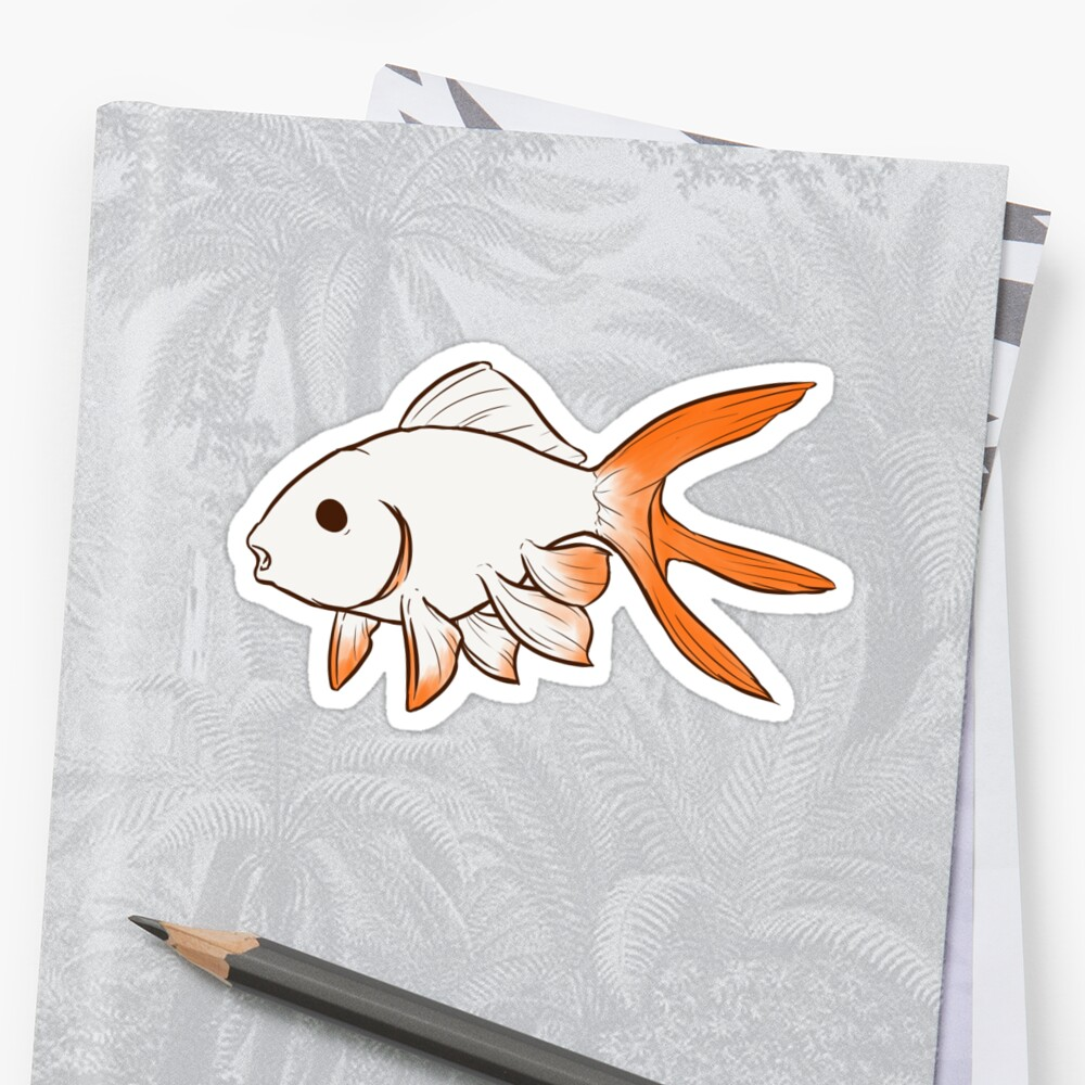 Fantail Goldfish sticker by rawrimamidget