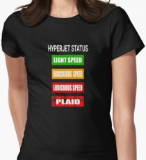 Spaceballs - Hyperjet Status Women's Fitted T-Shirt