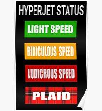 Spaceballs - Hyperjet Status Poster
