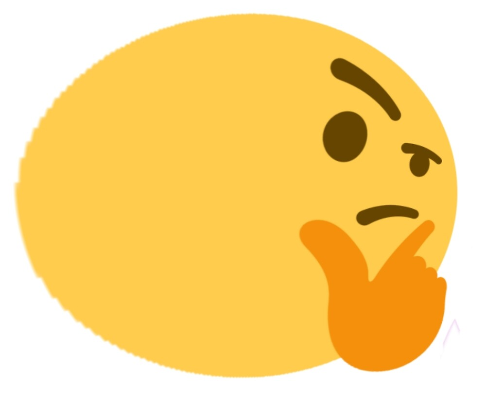 Fat Thinking Emoji by stertube