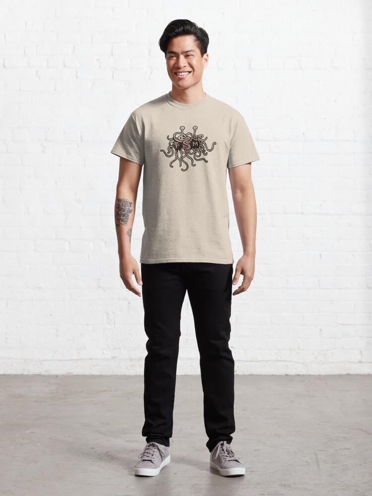Alternate view of FSM - Flying Spaghetti Monster Classic T-Shirt