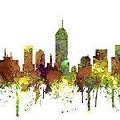 Indianapolis, Indiana Skyline - Safari Buff von Marlene Watson