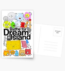BFDI Poster White Postcards