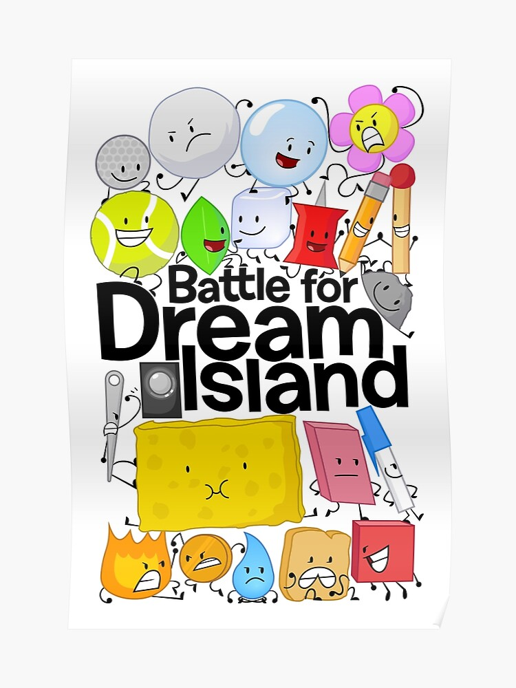 BFDI Poster White | Poster