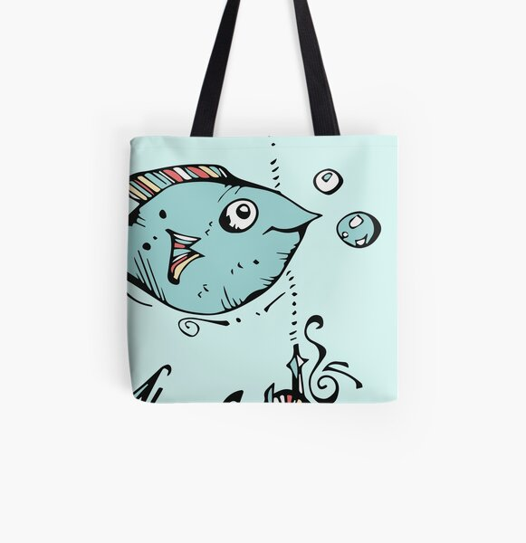 Fish For Gary All Over Print Tote Bag