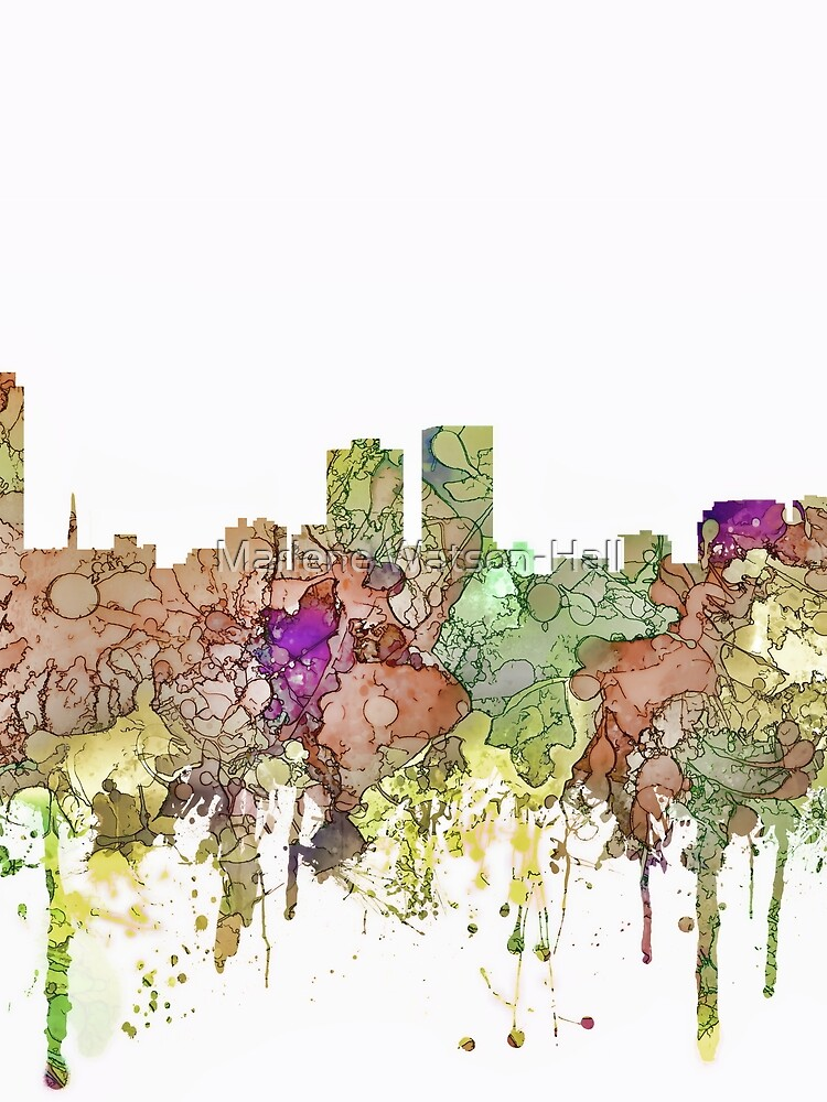 Baton Rouge, Louisiana Skyline - SG - Faded Glory by marlenewatson
