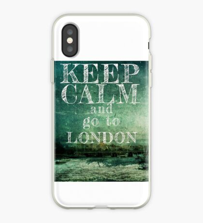 Keep calm and go to London iPhone Case