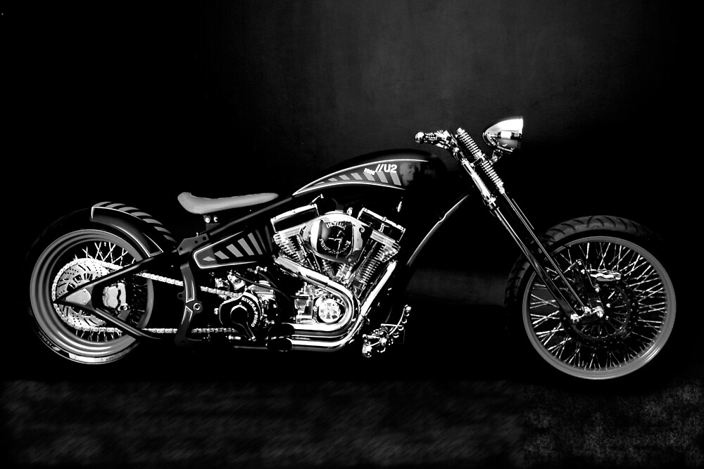 South Side Choppers - Black & White by Paul Lindenberg