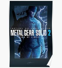 "Metal Gear Solid 2 ""Tanker Storm"" Poster Poster"