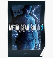 "Metal Gear Solid 2 ""Tanker Storm"" Poster Poster"