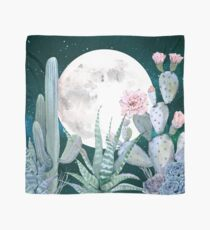Pañuelo Cactus Nights Pretty Pink and Blue Desert Stars Cacti Illustration
