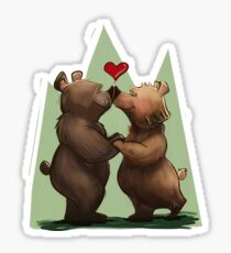 """""""I love you beary much"""" Sticker"""