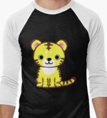 Cute chibi tiger Men's Baseball ¾ T-Shirt