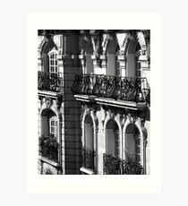 Parisian Balconies, Paris Art Print