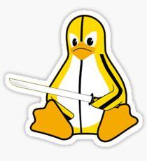 Linux meet Kill Bill Sticker