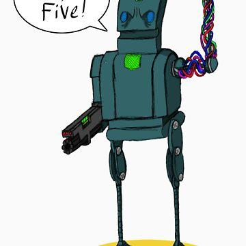 High five robot, by MrHoisington