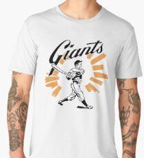 San Francisco Giants Schedule Art from 1958 Men's Premium T-Shirt