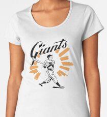 San Francisco Giants Schedule Art from 1958 Women's Premium T-Shirt