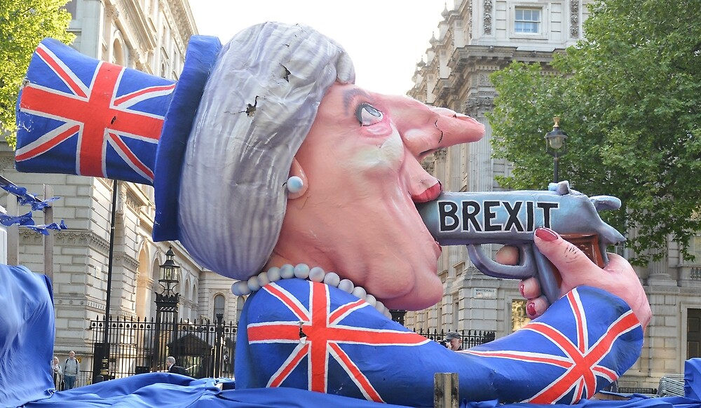 Theresa May effigy goes to Downing Street by dust nbones