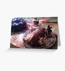 The Yule Log  Greeting Card