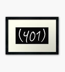 401 Framed Print