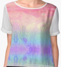 Rainbow Marbled Tie Dye Women's Chiffon Top