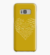 Quotes of the Heart - Amy/Rory (White) Samsung Galaxy Case/Skin