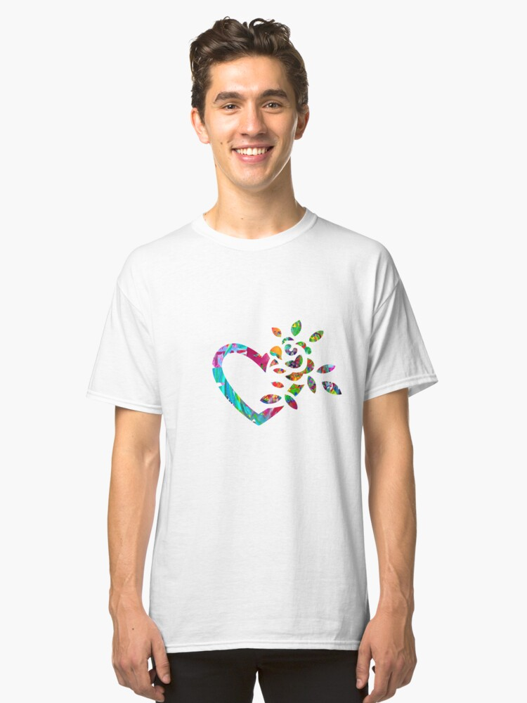 Colorful Paint Heart Classic T-Shirt Front