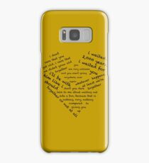 Quotes of the Heart - Amy/Rory (Black) Samsung Galaxy Case/Skin