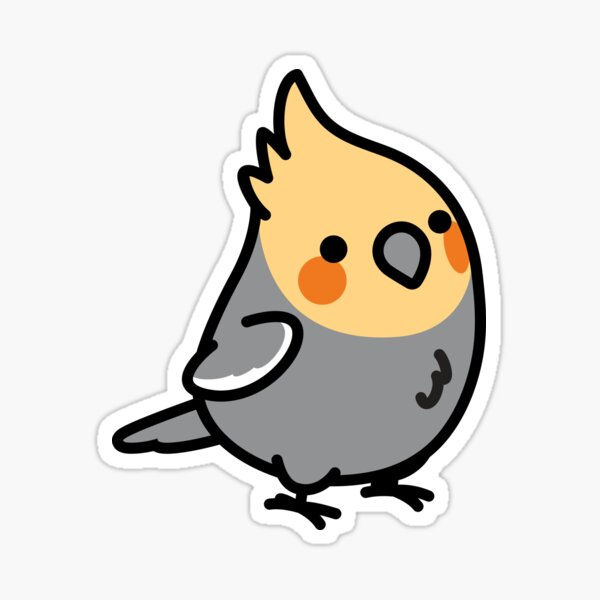 Chubby Cockatiel  Sticker