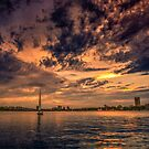 Sunset over Cambridge, MA by LudaNayvelt
