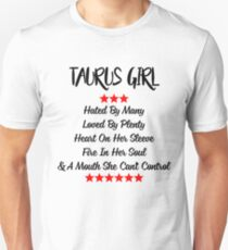 Taurus Girl Heart On Her Sleeve Fire In Her Soul T-shirt T-Shirt