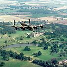 "Lancaster B.1 ""City of Lincoln"" over Burghley House by Colin Smedley"
