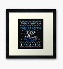Merry Fishmas Ugly Christmas  Framed Print