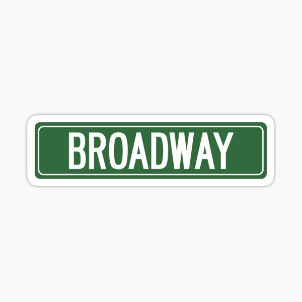 BROADWAY, NYC Sticker
