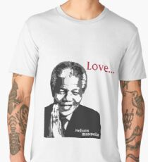 """""""If they can learn to hate, they can be taught to love"""" - Nelson Mandela Men's Premium T-Shirt"""