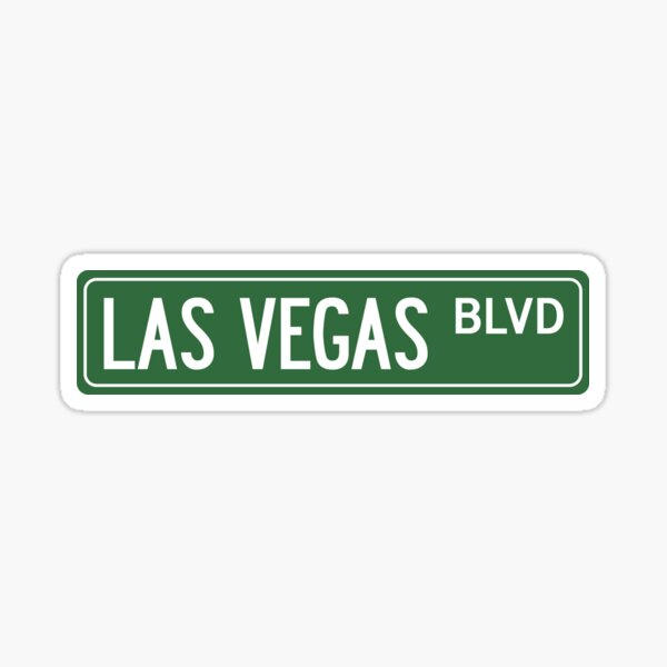 LAS VEGAS BLVD Sticker