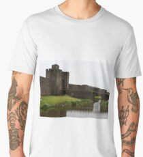 Caerphilly Castle, Wales Men's Premium T-Shirt