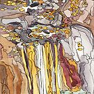 Leona Heights Waterfall by Carrie Alyson