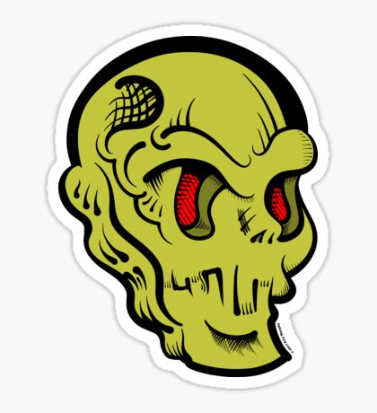 Skully Glossy Sticker