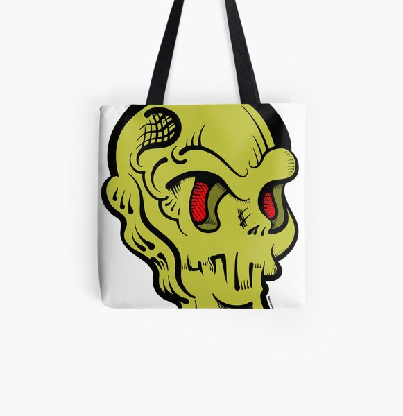 Skully All Over Print Tote Bag