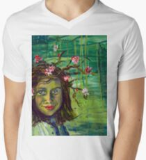 The Muse Portrait by Gretchen Smith Mens V-Neck T-Shirt