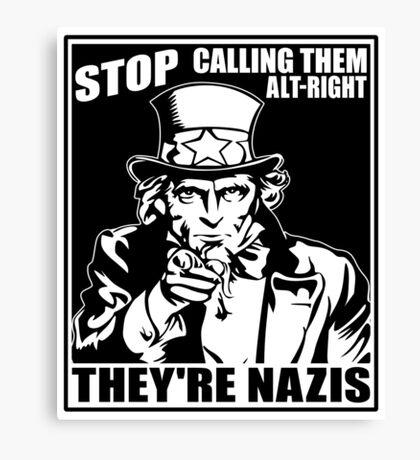 Anti Alt Right Canvas Print