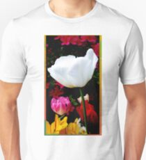 White tulip in colorful garden T-Shirt