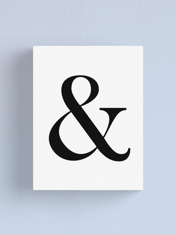 2 Prints Wall Art Ampersand Print Art Prints Home Prints Minimalist Print