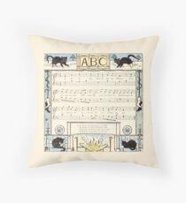 Vintage ABCs Throw Pillow