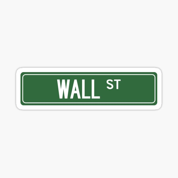 WALL STREET, NYC Sticker