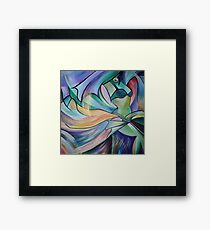 Middle Eastern Belly Dance With Pastel Veils Framed Print