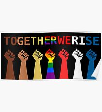 Together we rise,  #togetherwerise, Women's March, 2018 Poster