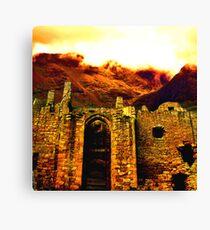 Castle & Mountain Canvas Print